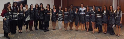 January 2014 Conference - Garbage Bag Dress Models